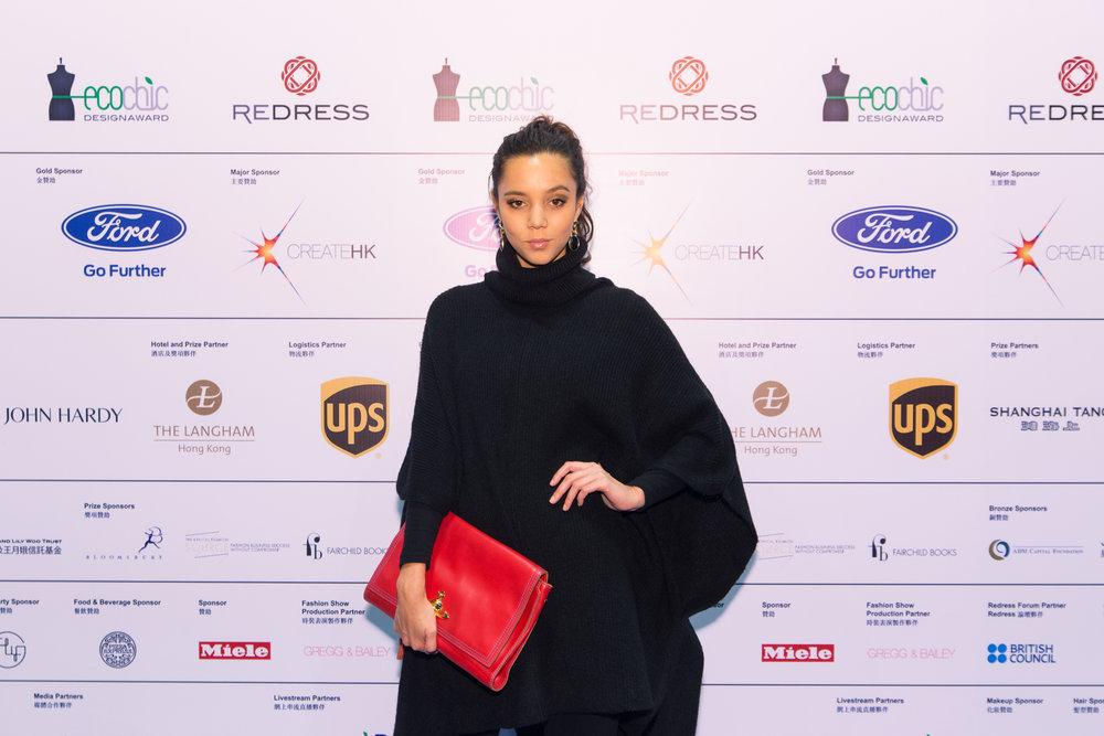Hong Kong model Helena Chan attends the Redress Design Award 2015/16 Grand Final Show