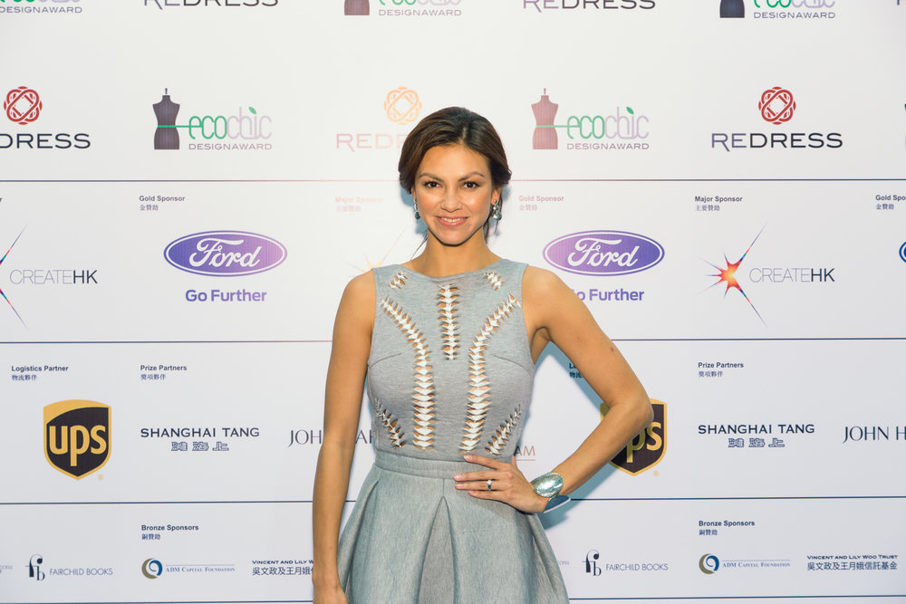 Hong Kong supermodel Rosemary Vandenbroucke attends the Redress Design Award 2014/15 Grand Final Show