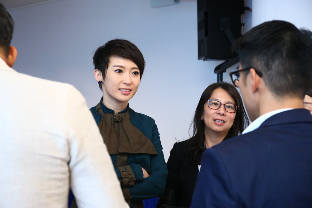 Hong Kong TV presenter and actress Catherine Chow attends the Redress Design Award 2015/16 Ford Design Challenge