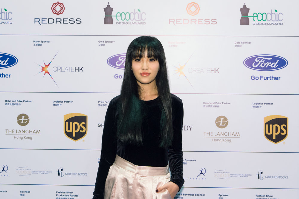 Chinese style blogger Elle Lee attends Redress Design Award 2013 Grand Final Show