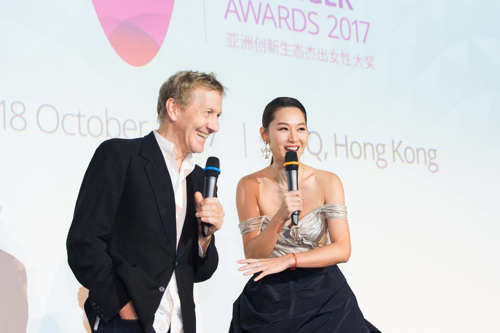 Redress Design Award ambassador Kate Tsui wore her up-cycled outfit reworked by our Redress Design Award finalists from items found in Hong Kong clothing bins during the recent Redress x Miele Consumer Care challenge to the GGEF Awards 2017. Here, Kate styled the versatile outfit with a reconstructed skirt she had created from a black evening gown she had in her closet for a few years.