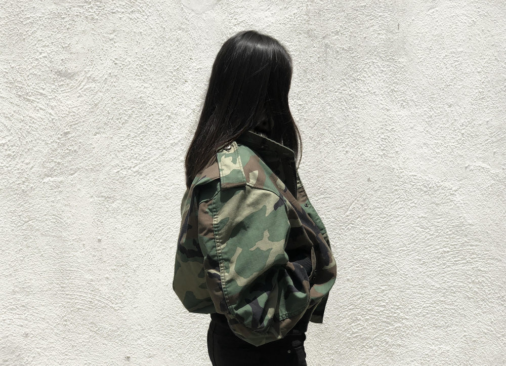 The brand's latest collection applies the reconstruction design technique to military uniforms