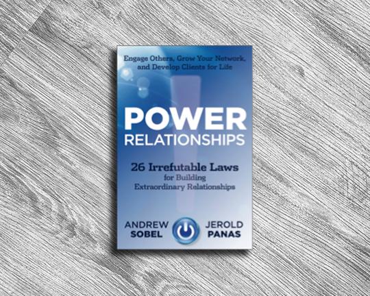 POWER RELATIONSHIPS  ANDREW SOBEL + JEROLD PANAS  NOVEMBER 2017