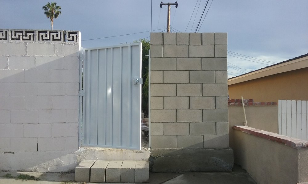 New Gate and Block Wall(Right Side)