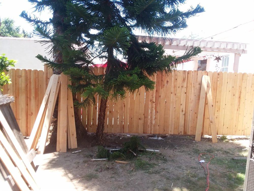 Front Side 95 ft. cedar picket fence