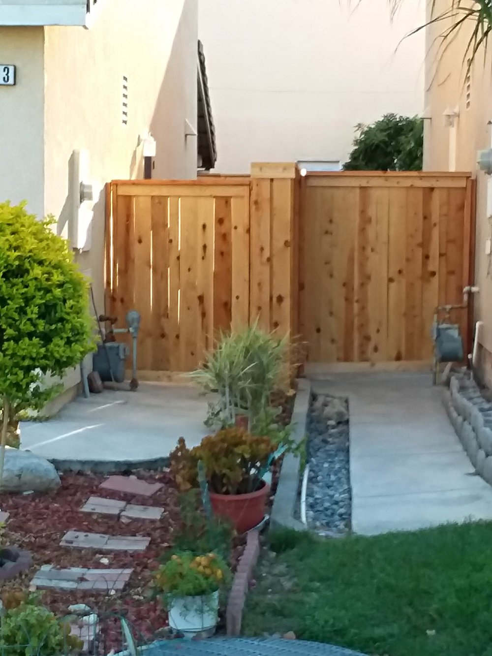 2 of the four gates in multi home project in Upland,Ca