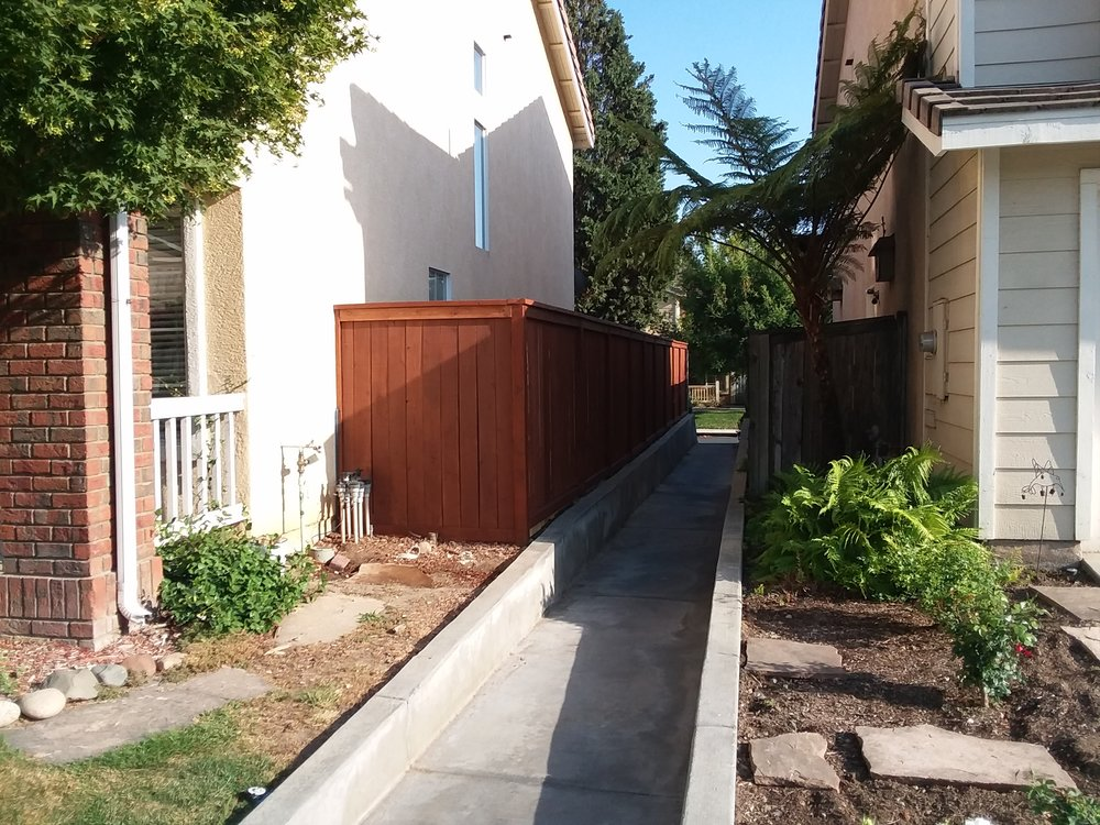 one Part of multi home project in Upland,Ca Acorn Brown Stain