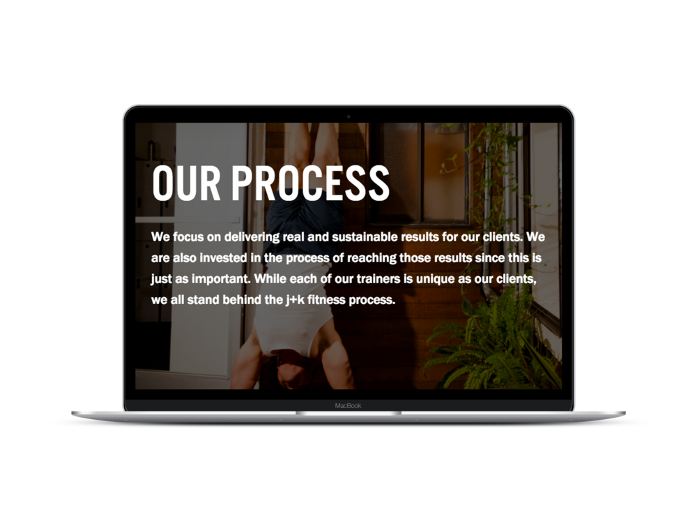 Max Pete provided Squarespace website design and digital marketing strategy for J+K Fitness Studio.