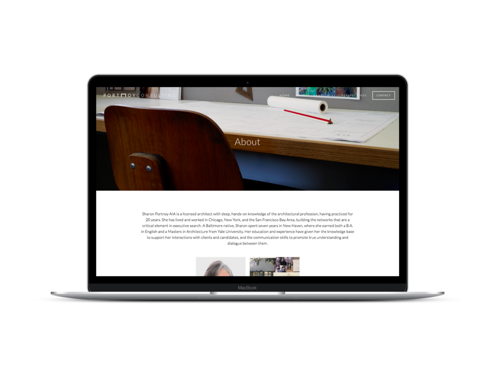 Max Pete provided Squarespace website design and development, and brand strategy for Portnoy Consulting.
