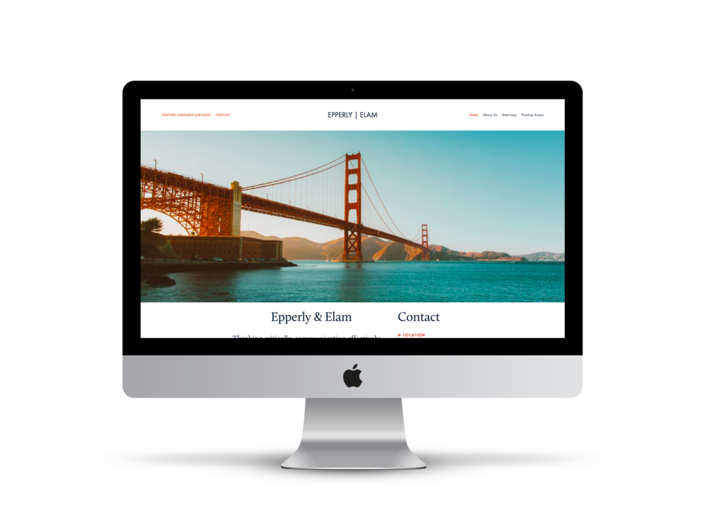 Max Pete provided Squarespace website design, development, brand strategy, and content creation for Epperly | Elam