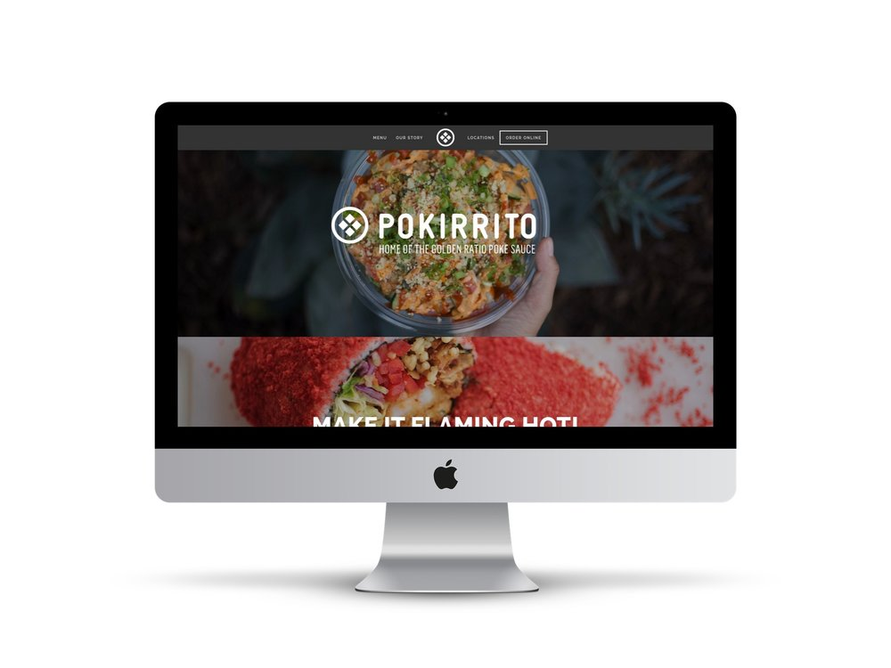 Max Pete provided Squarespace website design and development for Pokirrito