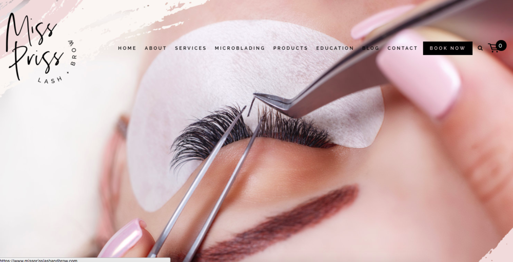 <p><strong>Miss Priss Lash & Brow</strong>Squarespace Website Design<i>More →</i></p>