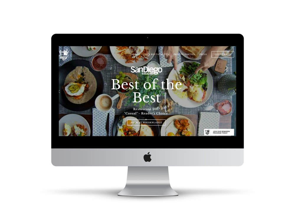 Max Pete provided Squarespace website design and development for WNL Hospitality.