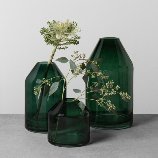 Magnolia Hearth and Hand Glass Jug Vase in Green - If you don't love Joanna Gaines, I'm not sure if we can be friends.  When I found out she was launching a Target line I knew my wallet would be hurting but my house would look fabulous.  My favorite purchase from my spree were these glass jugs.  I purchased two of the larges to sit beside our TV on our console.  I loved the deep green and how festive it looked for Christmas and will probably pick up the grey color for the rest of the year.