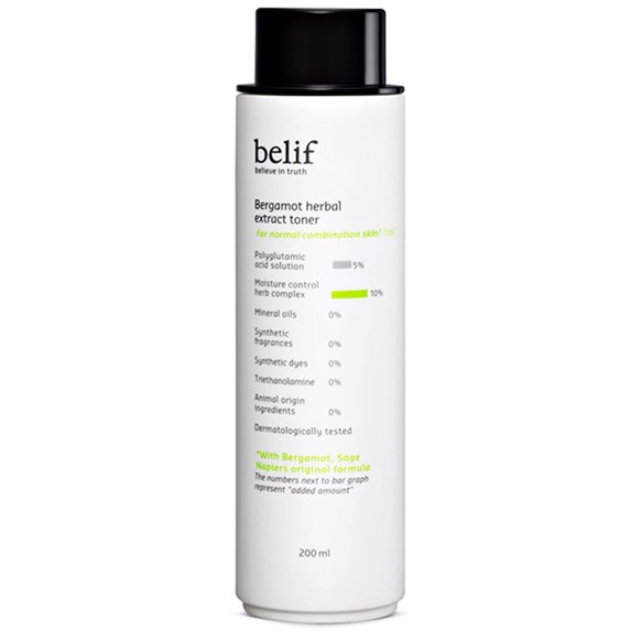 Belif Bergamot Herbal Extract Toner - This is the current toner I've been using and I am in LOVE.  It has a thicker consistency than you average toner which is heaven to my dry skin! This toner in particular is for normal/combination skin, but Belif has a couple other toners for other skin types as well. I highly recommend Belif's products, I have yet to be disappointed.