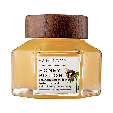 Farmacy Honey Potion Mask - I got a sample of this with a Sephora order and I'm already planning to scoop up a full size after I finish it.  I particularly love this mask after using a deep cleaning mask like the GlamGlow.  The thick honey consistency helps replenish the skin with hydration while also calm it down with honey's natural anti-inflammatory properties.  I would highly recommend this to people who struggle with acne!