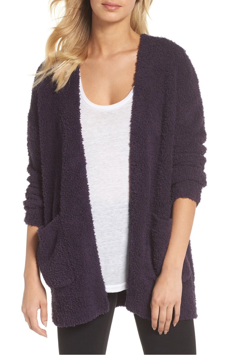 Barefoot Dreams CozyChic Cardigan - Barefoot Dreams is one of the #nsale's biggest sellers because the material is a literal dream!  Every wanted to know what it's like to be a stuffed teddy bear? Well now you can.