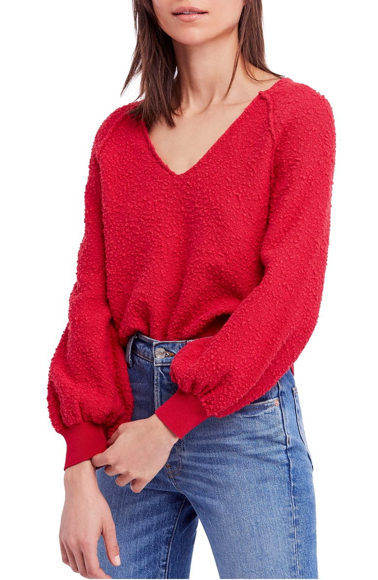 Free People Found My Friend Sweater - Another dreamy sweater perfect for fall! It comes in more than five different colors and you need at least one.  The cropped style is perfect to tuck into high waisted jeans or pair with a skirt without getting that awful bulge that looks like a food baby.