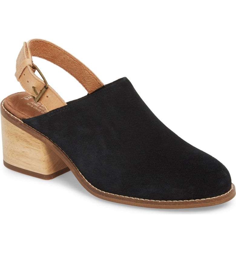 TOMS Leila Slingback Mule - These slingbacks are so cute!! They are basically a shoe mullet: boot in the front, mule in the back.
