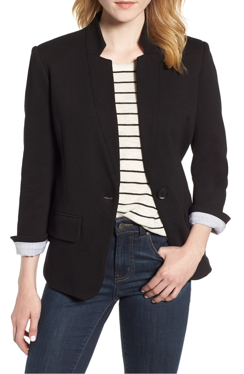 Olivia Moon Blend Knit Blazer - I'm really into blazers right now.  I love how they make you look so sophisticated even if you're just wearing jeans and a tee.  I love that this one is made with a knit material so it makes it a little less dressy but just as classy.