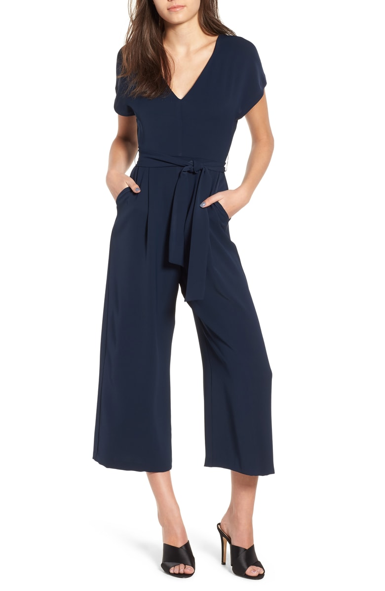 ASTR the Label Belted Jumpsuit - Jumpsuits are my favorite clothing piece ever! One complete outfit that takes less than a 20 seconds to put? Yes please!! The belted waist is what draws me to this jumpsuit the most as it creates shape.  I also appreciate the short sleeves because it makes it look more sophisticated than sleeveless.