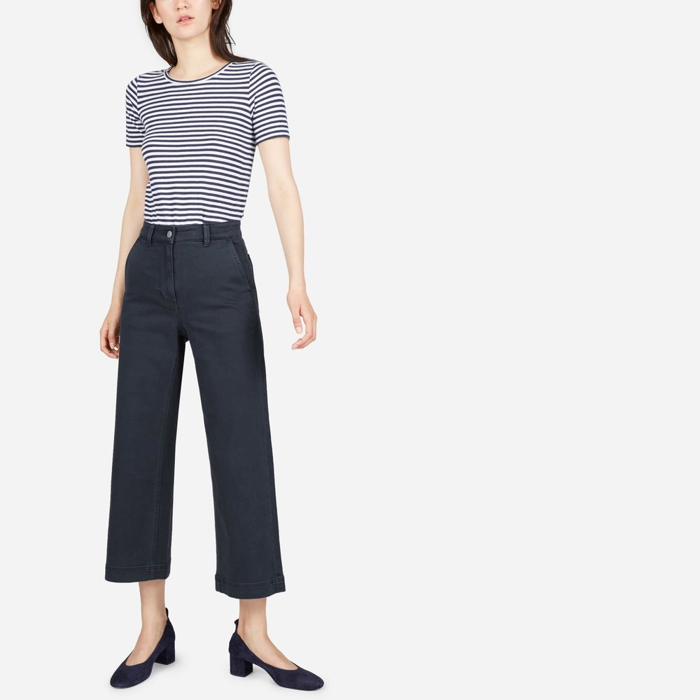 Wide Leg Crop Pant - $68