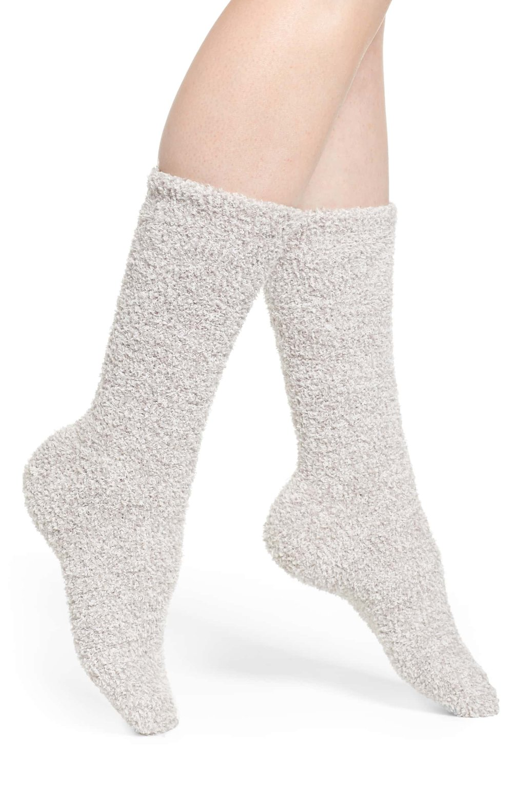 Barefoot Dreams CozyChic Socks - Ever wondered what a cloud feel like? Well know you can know!! Brett gave me all three colors of these socks in my stocking last Christmas and I'm obsessed. Barefoot Dreams' iconic plush material makes every sock feel like sandpaper (dramatic, but true). I wear these around the house, tucked into boots, and if they made them in a short no-show style, I'd buy those too.P.S. These would make a great gift!