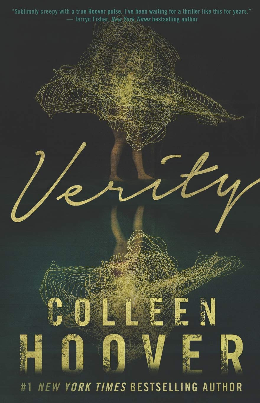 """Verity by Colleen Hoover - Bad on Paper Podcast Book of the MonthRating: 4/5Before reading this all I saw was everyone online saying it was """"MESSED UP"""" or something along those lines with usually some expletives throw in. But after saying that they would all say it was one of the best thrillers they have ever read. I LOVE thrillers but honestly I was nervous to start this and OH. MY. GOSH. This book IS messed up and not for the faint of heart or anyone expecting or already a mother. Verity is named after one of the main characters who is a successful author who is medically incapable to finish her successful series of villain books. Lowen, an up and coming author is hired to ghost write the last remaining books and head to Verity's Vermont family home to research the books and outline the next three. During her research she stumbles upon an autobiography Verity has written that follows Verity and her husbands relationship and life with three kids (2 of which has died in the same year). The autobiography is obsessive, incredibly disturbing, and very graphic in ways I never imagined someone would write about their own children. For the most part I was concerned for Colleen Hoover the author and how she could house this in her brain as a mother and wife!! So while you might be writing off Verity I will say that it is indeed one of the best thrillers I have ever read!Is it a must read? I'm going to say yes, but only for those who are die-hard thriller lovers and are not extremely sensitive to bad things happening to children. (I know that sounds weird and like I probably hate children, but if you do end up reading it you'll know what I mean.)"""