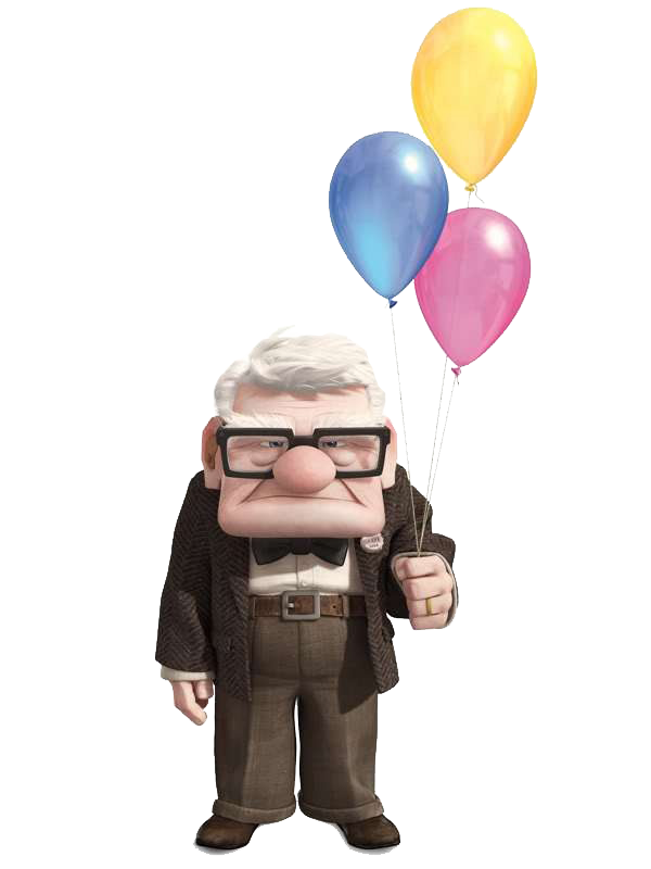 Carl from 'Up' represents not a singular old person, but the  idea of  old people