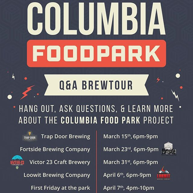 ATTENTION: We have finalized our last push for the Kickstarter Campaign.  Starting TONIGHT, we will be hosting a weekly Q&A. We are calling this our Q&A Brewtour.  Four weeks. Four breweries. Ending with a bang in the park.  Friday, April 7th, we will be opening the gates here in the park. There will be live music, food and drinks. Come check out the space, and see how its all going to come together.  Make sure to share these dates with everyone. We have 4 weeks to go to reach our Kickstarter goal.