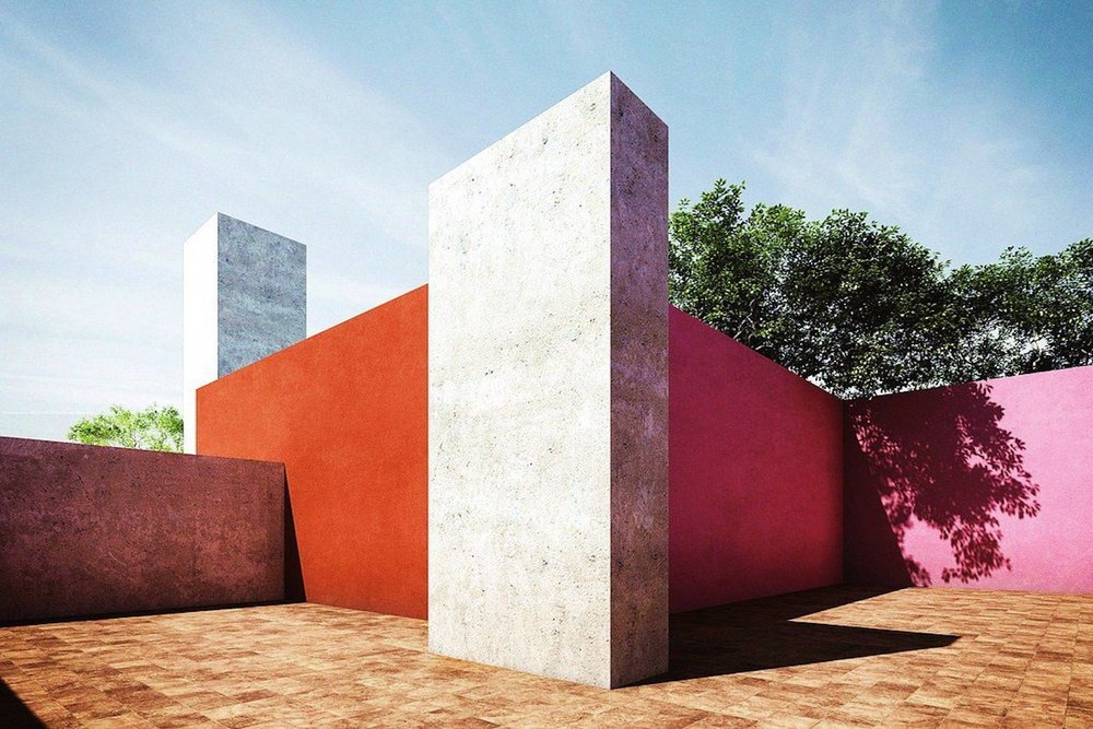 Colours used by Mexican architect Luis Barragan to uplift mood.