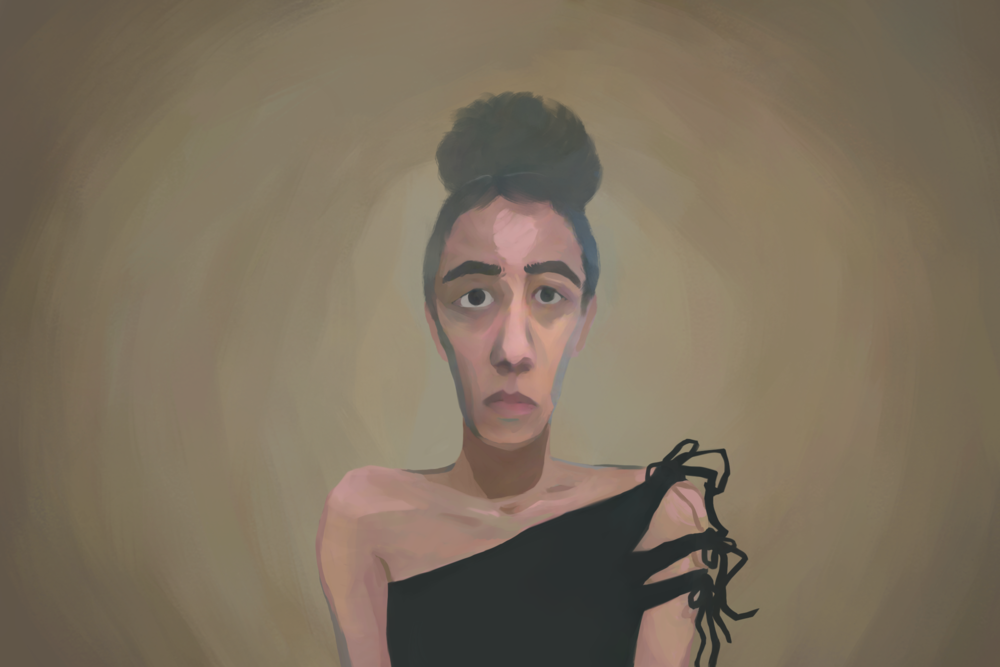 Self-portrait by Clara Mejías