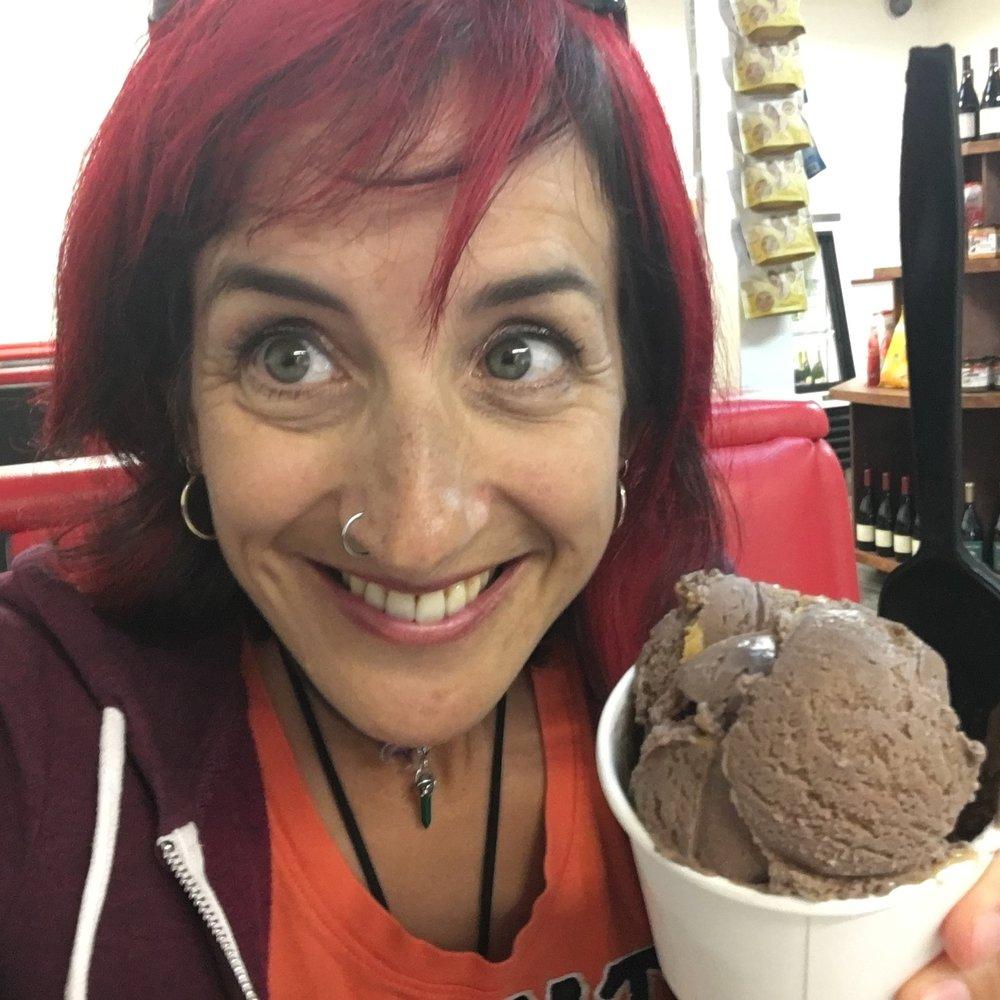 Ice cream at Marianne's in Aptos