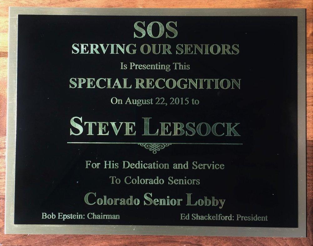 2015 Senior Lobby Award