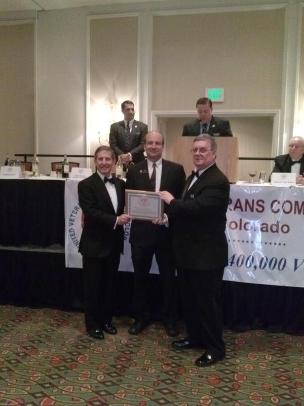 Left to Right, Sloan Gibson, Deputy Secretary, U.S. Department of Veterans Affairs, Representative Steve Lebsock, Steve Rylan, President, United Veterans Committee
