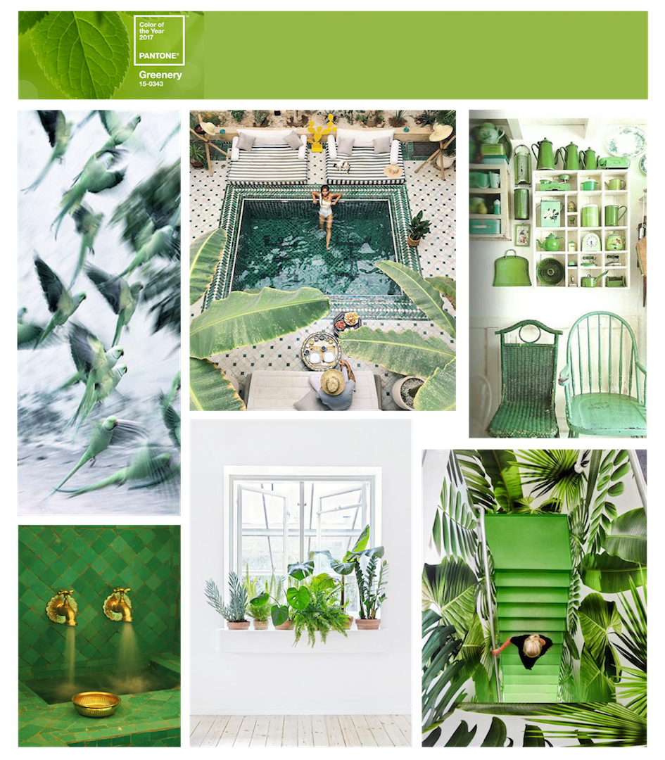 greenery color of the year inspirations