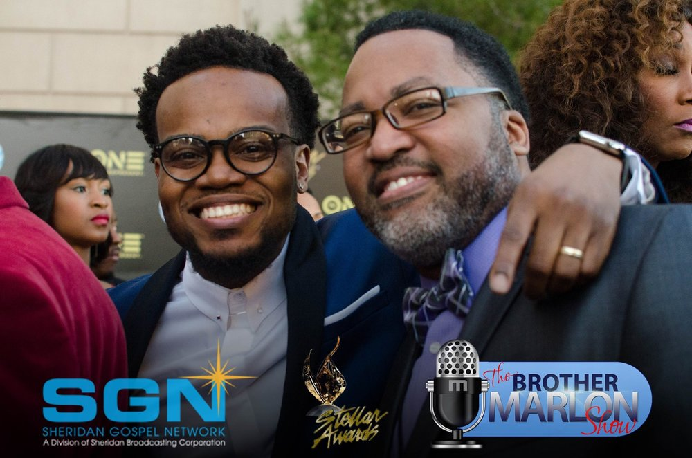with Travis Greene at the 2016 Stellar Gospel Music Awards (Las Vegas)