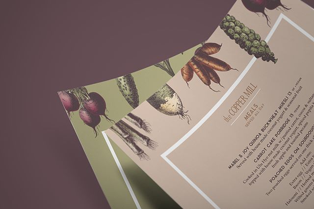 NEW WORK // WWW.ILLUME.TV AW/18 menu for the babes @thecoppermill cafe. 🍁🍂