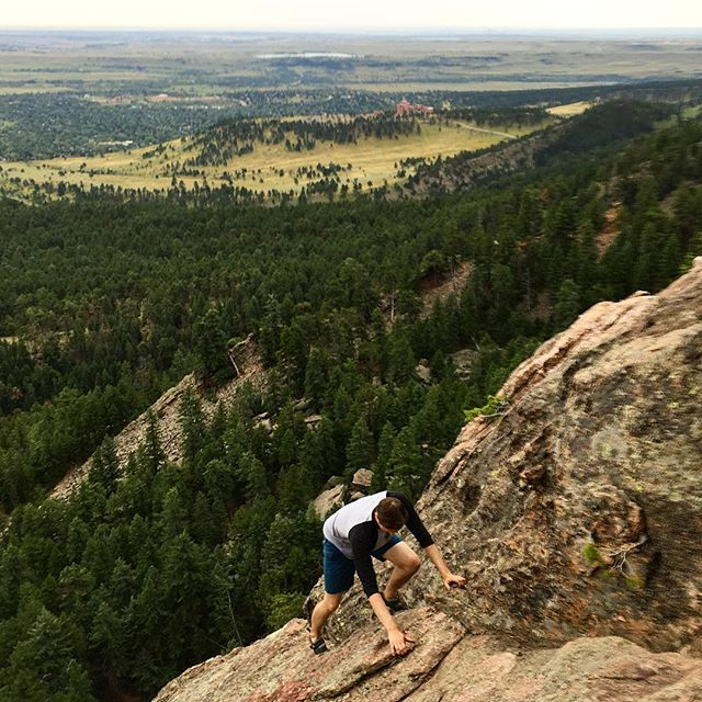 The Second Flatiron is a must if you're in Boulder. #gooutside #climbing