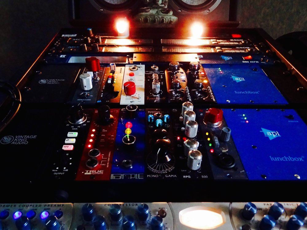 Mic Preamps by Neve, API, Grace, Avedis and Brent Averill, just to name a few