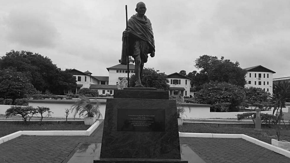 The statue that was removed from the campus of the University of Ghana