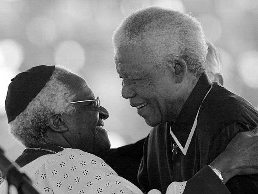 Archbishop Emeritus Desmond Tutu and Nelson Mandela