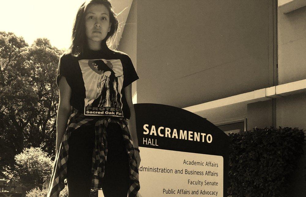 Chiitaanibah Johnson at CSU Sacramento