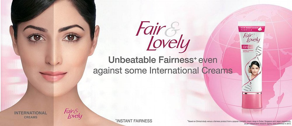 Fair & Lovely: a highly popular skin whitening cream from India that is also available in Malaysia, Singapore, Thailand, Sri Lanka, and a number of other Asian countries.