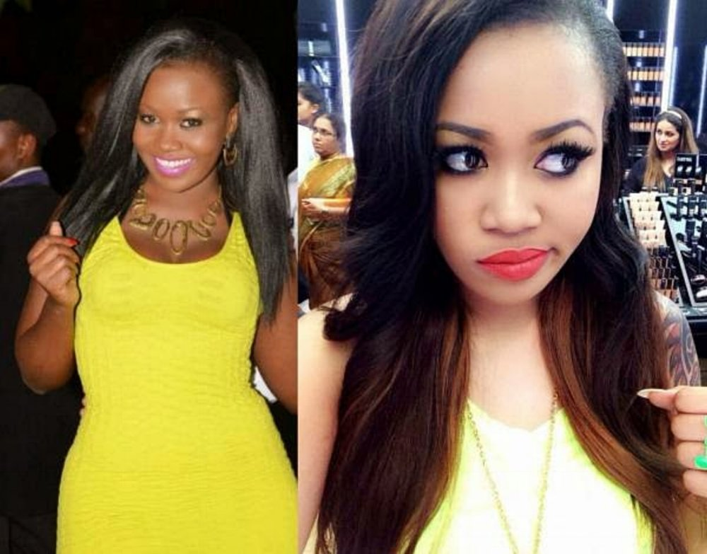 Kenyan model and television personality, Vera Sidika, before and after, admitted she spent nearly 170k on bleaching creams.
