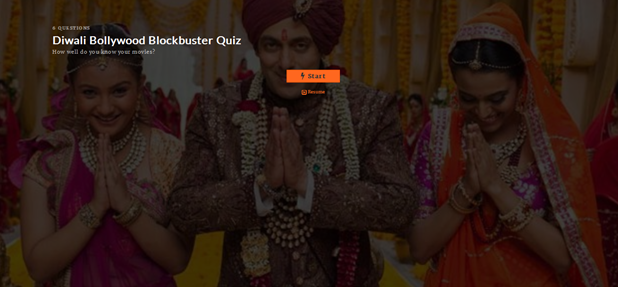 How well do you know your movies?  Diwali Bollywood Blockbuster Quiz