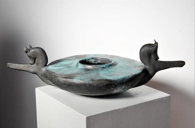 Vase 357.30.16 cm   Glazed terracotta