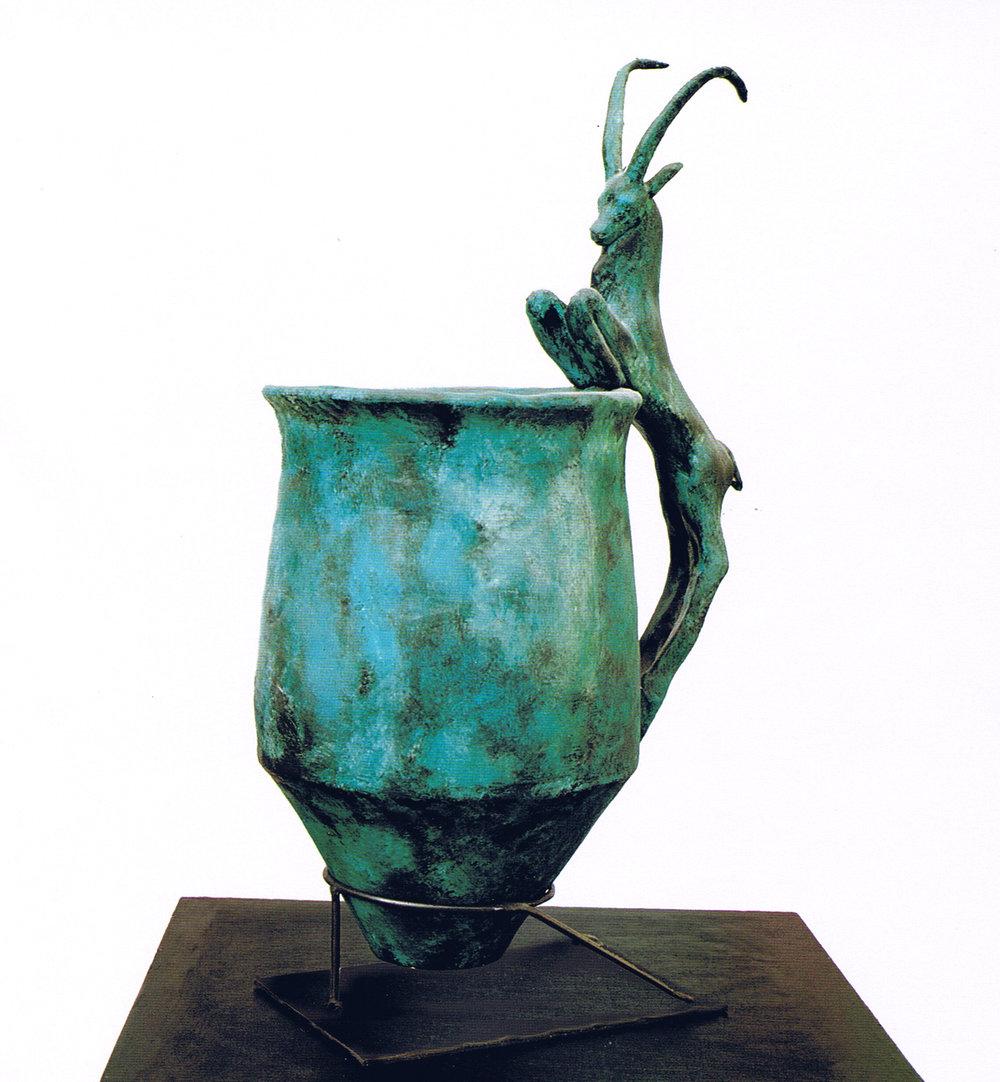 Vase 532.21.10 cm   Glazed terracotta