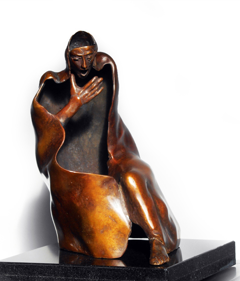 Desperation    22.35.27 cm Bronze    Consumed in yourself, in oppression… what choice will yours be?