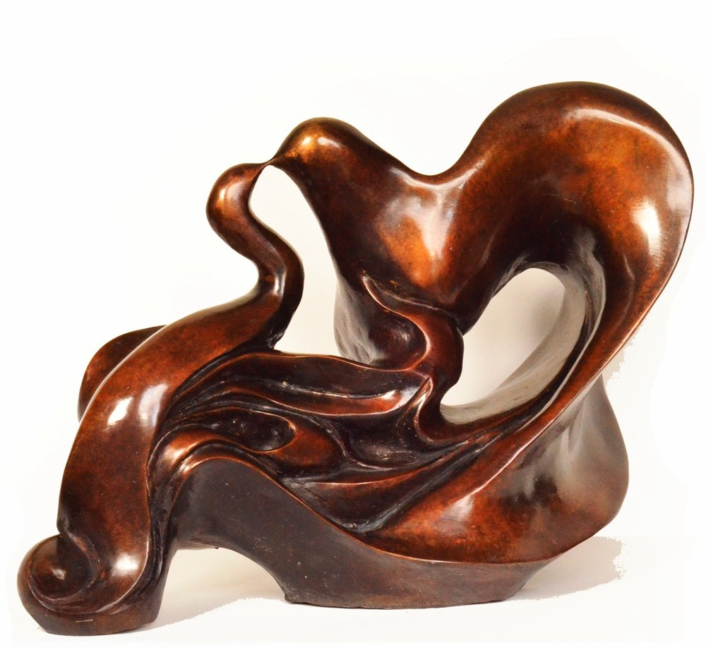 Bird Kissing      31.19.21 cm      Bronze